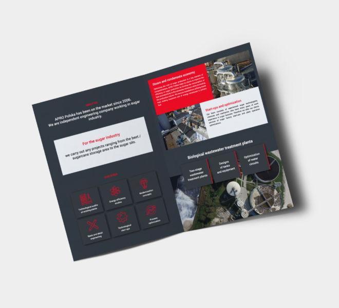 projekt katalogu informator grafika branding