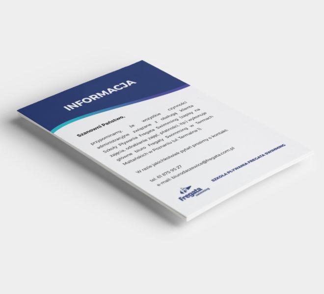 projekt grafika informacyjna papier firmowy