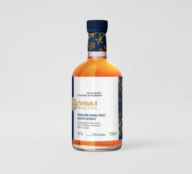 projekt etykiety na butelce