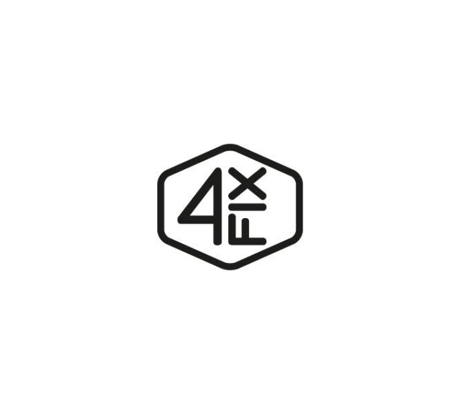 logotyp geometryczna typografia projekt