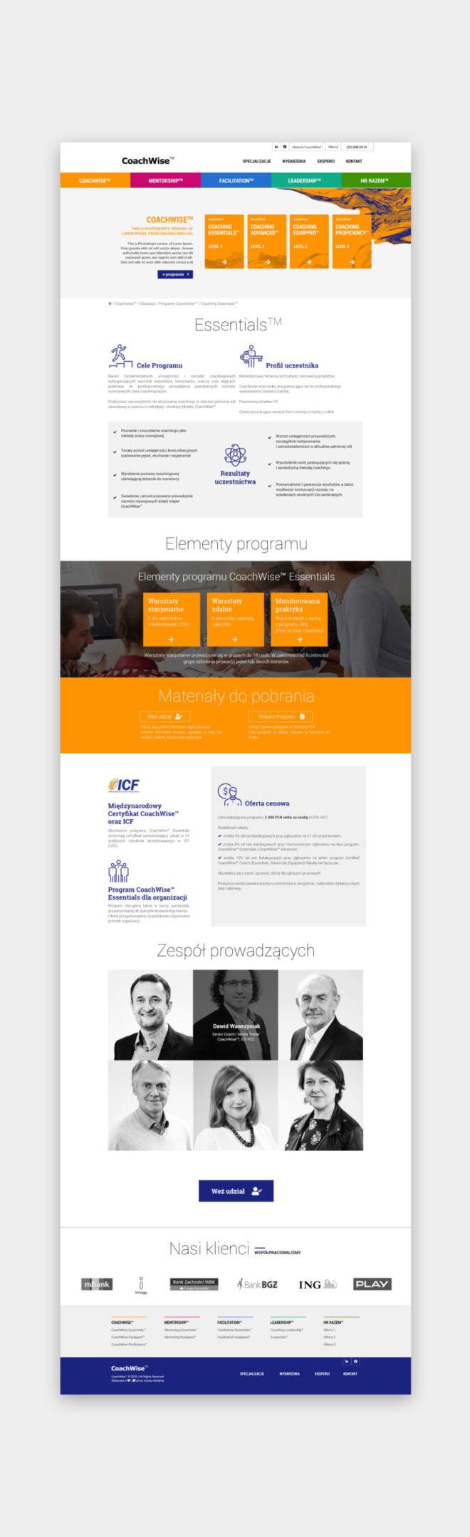 projektowanie graficzne landing page oferta