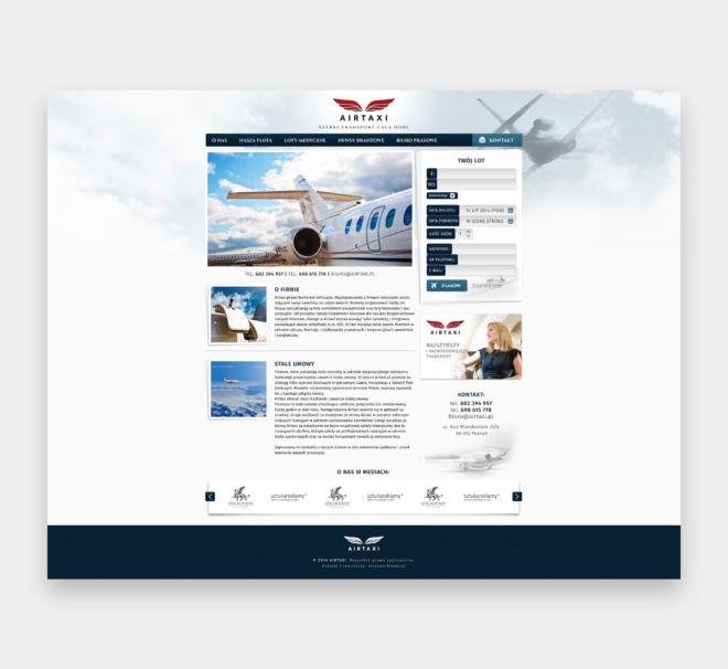 projekt graficzny landing page