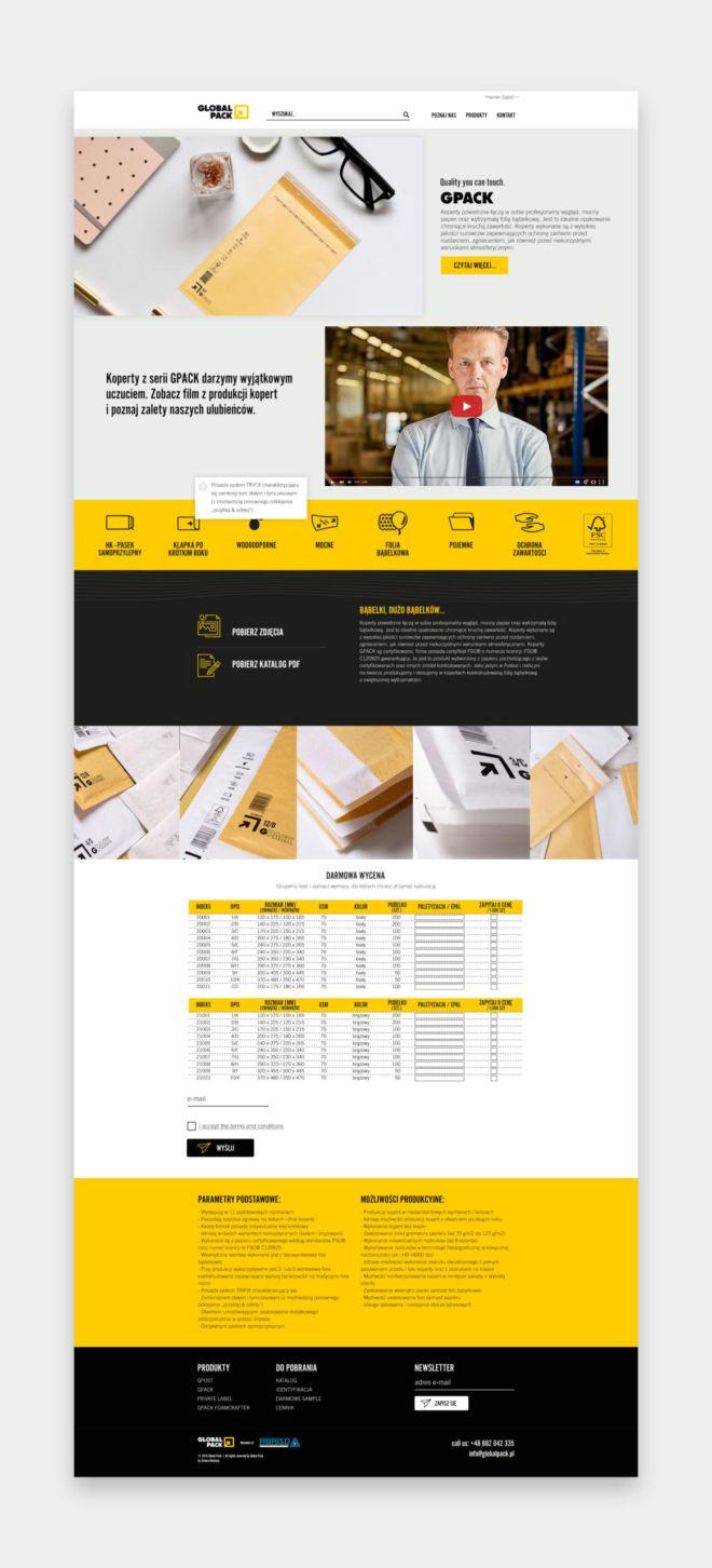 nowoczesny landing page dla przedsiebiorstw firm