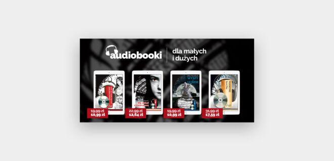 baner z ofertami promocyjnymi audiobookami