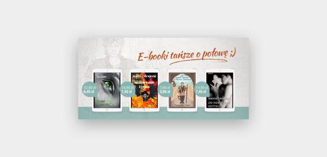 promocja na ebooki 50% projekt baneru