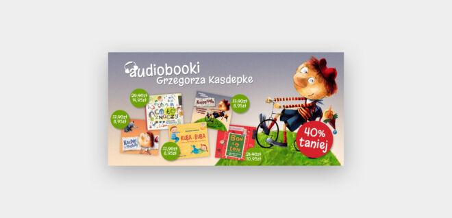 projekt baneru z ofertami promocyjnymi audiobook