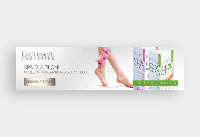 projekt baneru spa pielegnacja higiena beauty