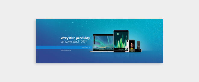 projekt banneru telefony tablety modern design