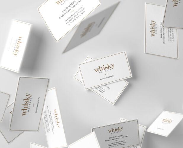 projekt wizytowki w klimacie whisky