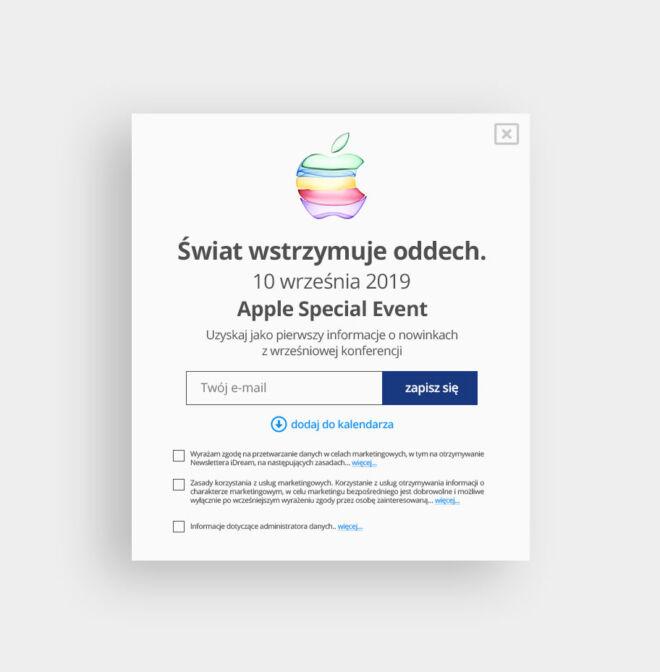 baner pop up event projekt