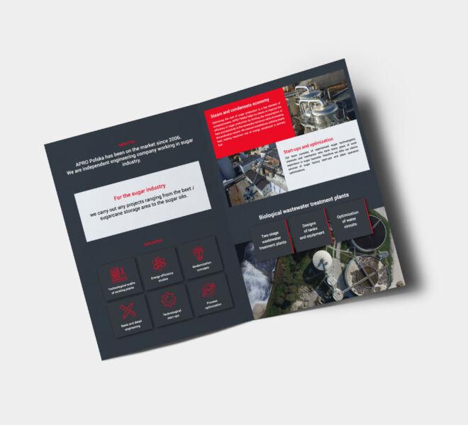 nowoczesny projekt folderu zaprojektowany studio glogow