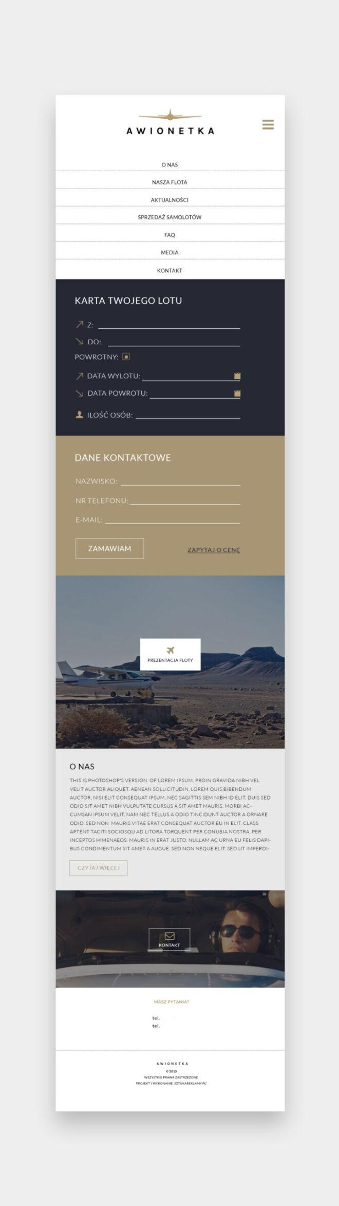 projektowanie graficzne www landing page glogow