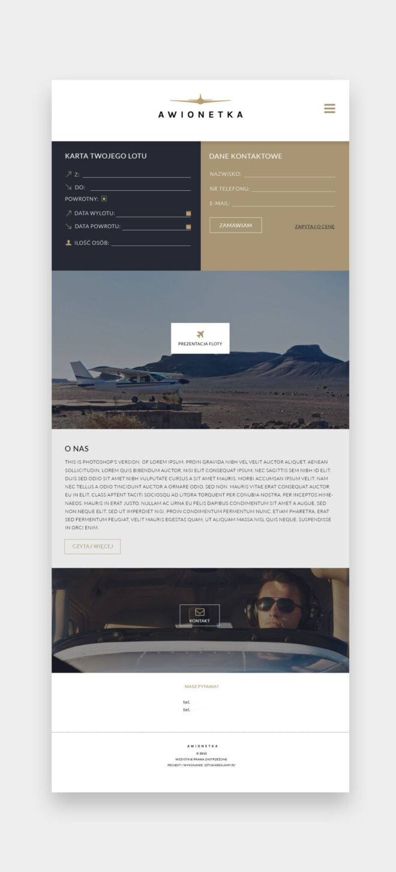 projekt nowoczesnej strony internetowej www projektowanie graficzne glogow
