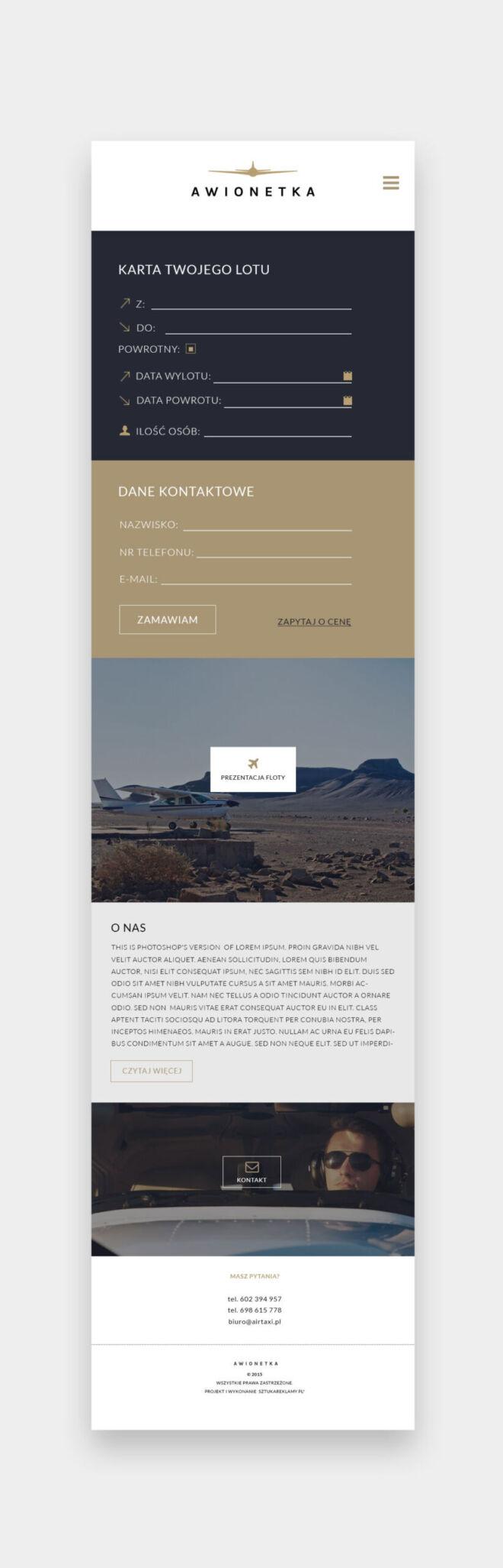 minimalistyczne strony internetowe