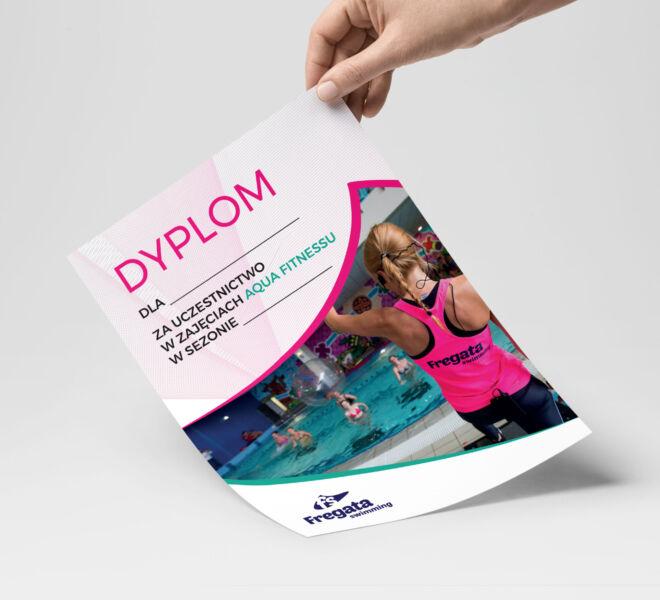 Ulotka dla zajec fitness w wodzie poznan design