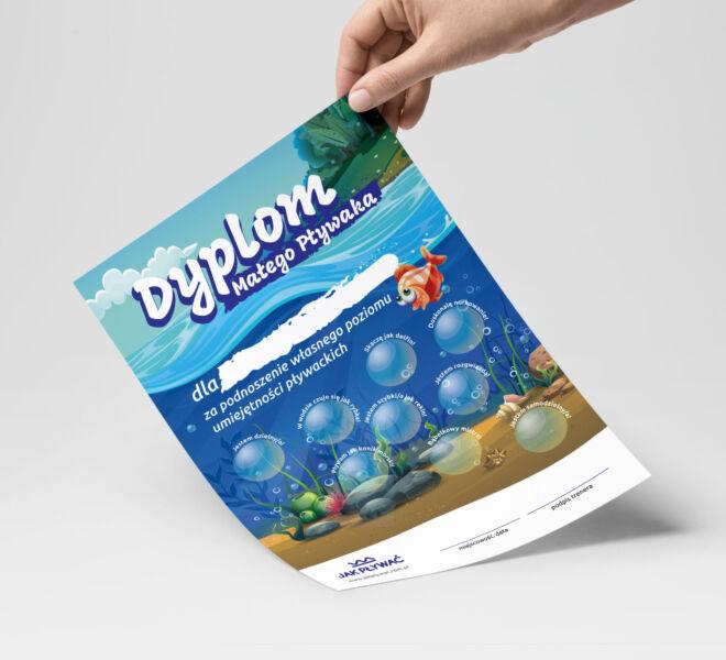 projekt dyplomu dla szkoly plywania
