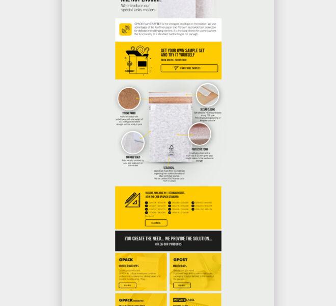 nowoczesny projekt mailingu grafika studio graficzne glogow