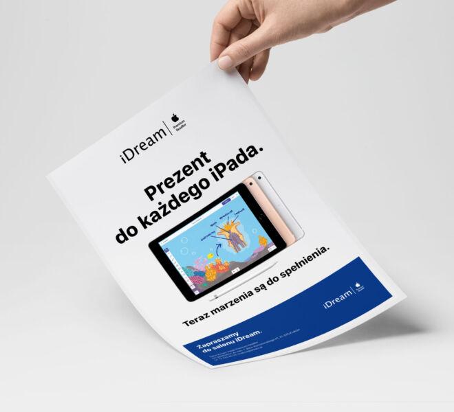 projekt ulotki tablet na prezent promocja u dystrybutora