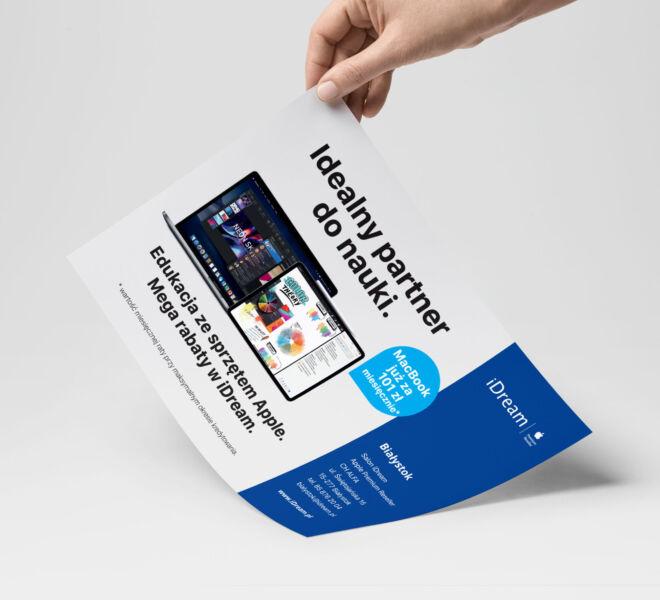 projekt ulotki promocyjna sprzet elektroniczny