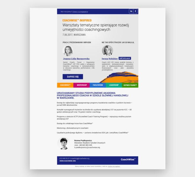 newsletter projektowanie graficzne glogow studio