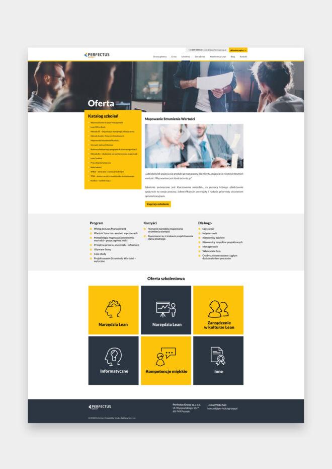 strona www dla konferencji lean