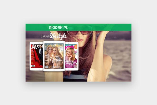 projekt baner kiosk czasopisma lifstyle