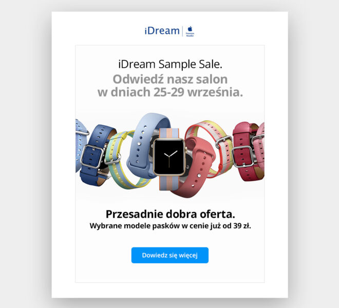 minimal simple czysty design newsletter mailing grafik poznan
