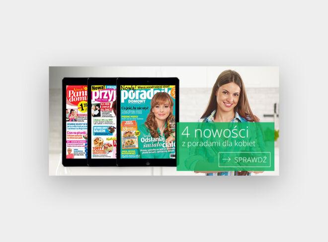 banner kiosk czasopisma dla kobiet