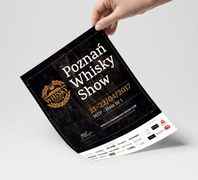 projekt ulotki promujace event whisky