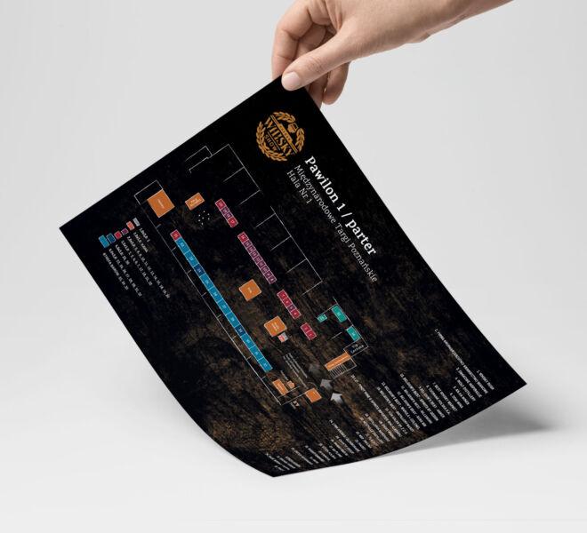 grafika informacyjna ulotki mapki eventowe projektowanie graficzne
