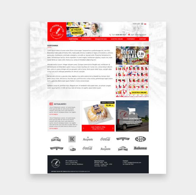 strona www dla dystrybutora zywnosci z wielkiej brytanii