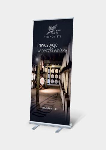 design rollup whisky elegancki stylowy projekt