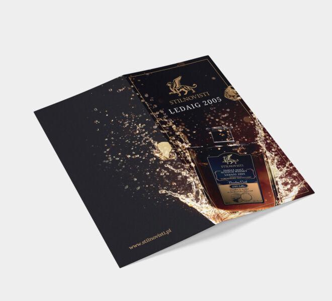 projekt ulotki dla wydarzenia whisky