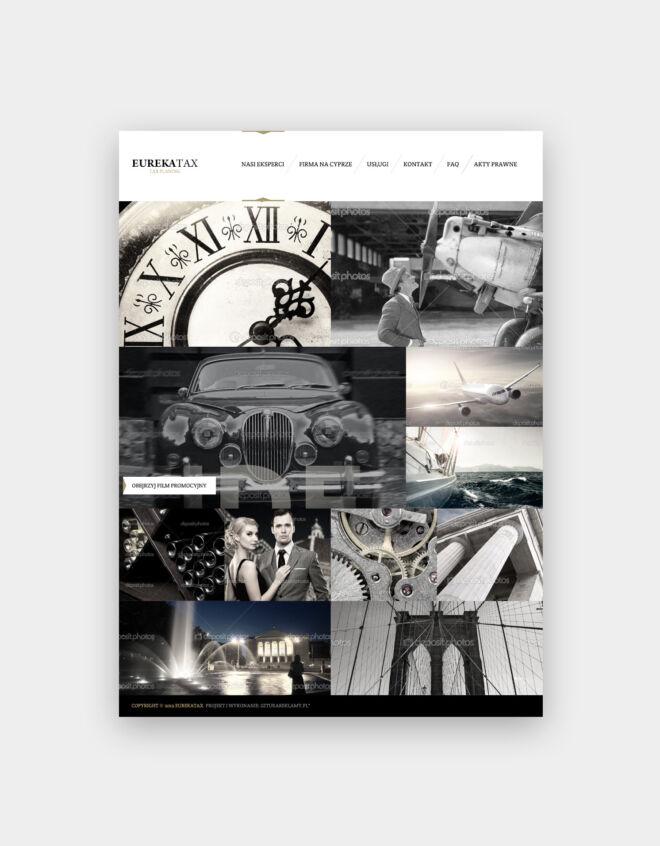 projekt strony internetowej z branzy finansowej