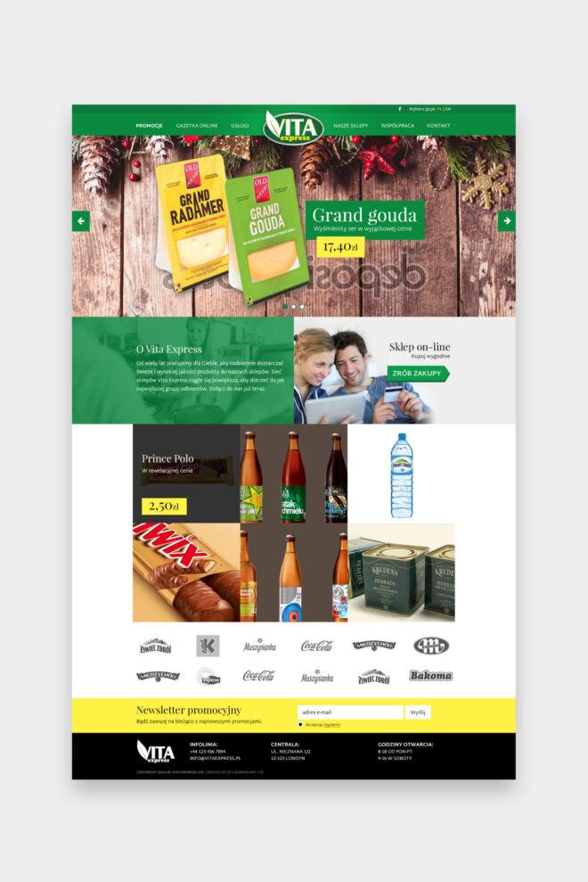 projekt strony internetowej ze sklepu zdrowa zywnoscia