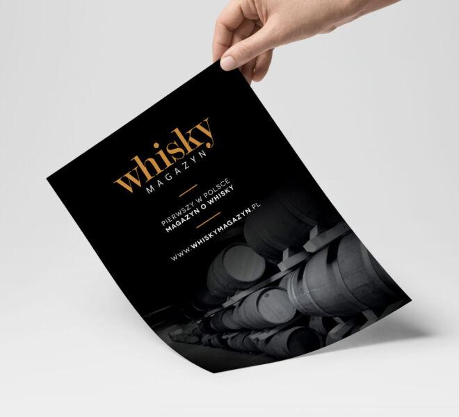 whisky promocja magazynu projekt ulotki