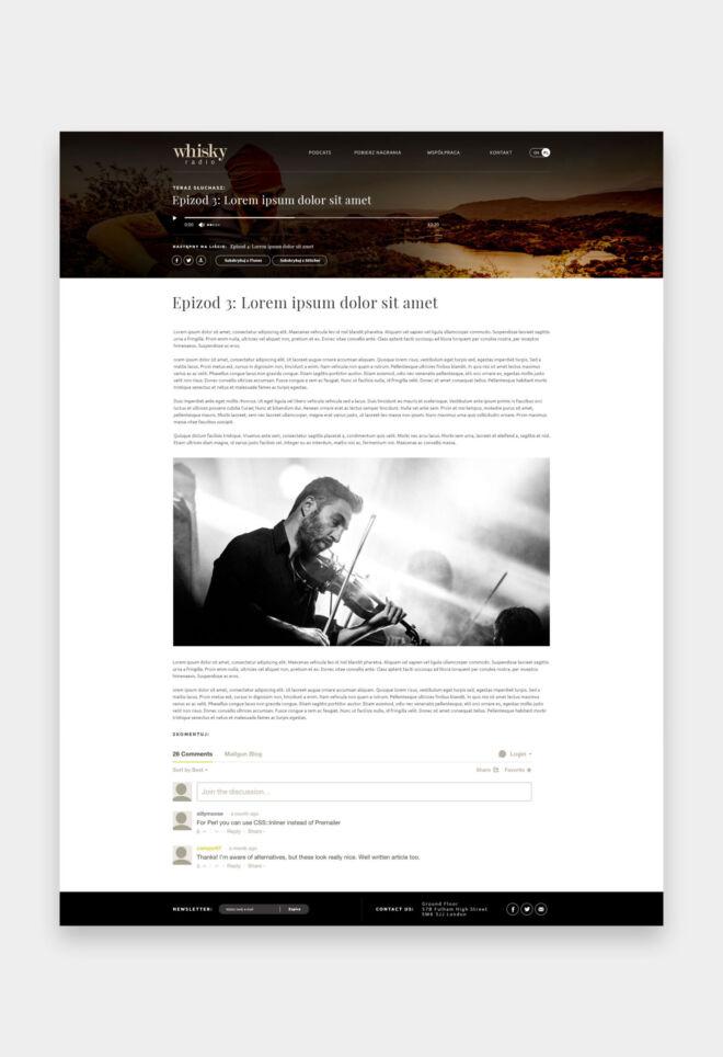 projekt strony internetowej dla luksusowych alkoholi whisky