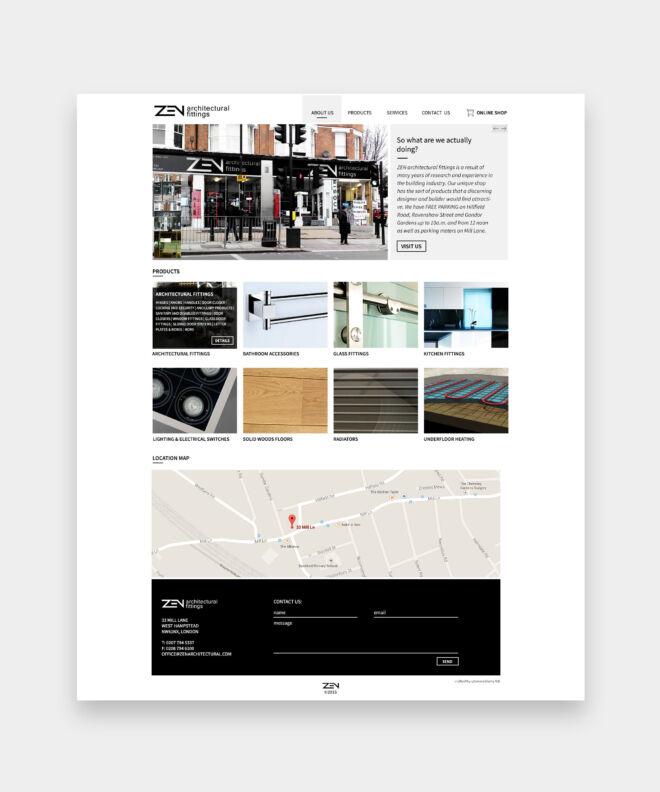projekt strony internetowej dla branzy projektowo-budowlanej